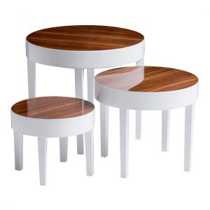 Apple White Gloss Nest of 3 Tables 1