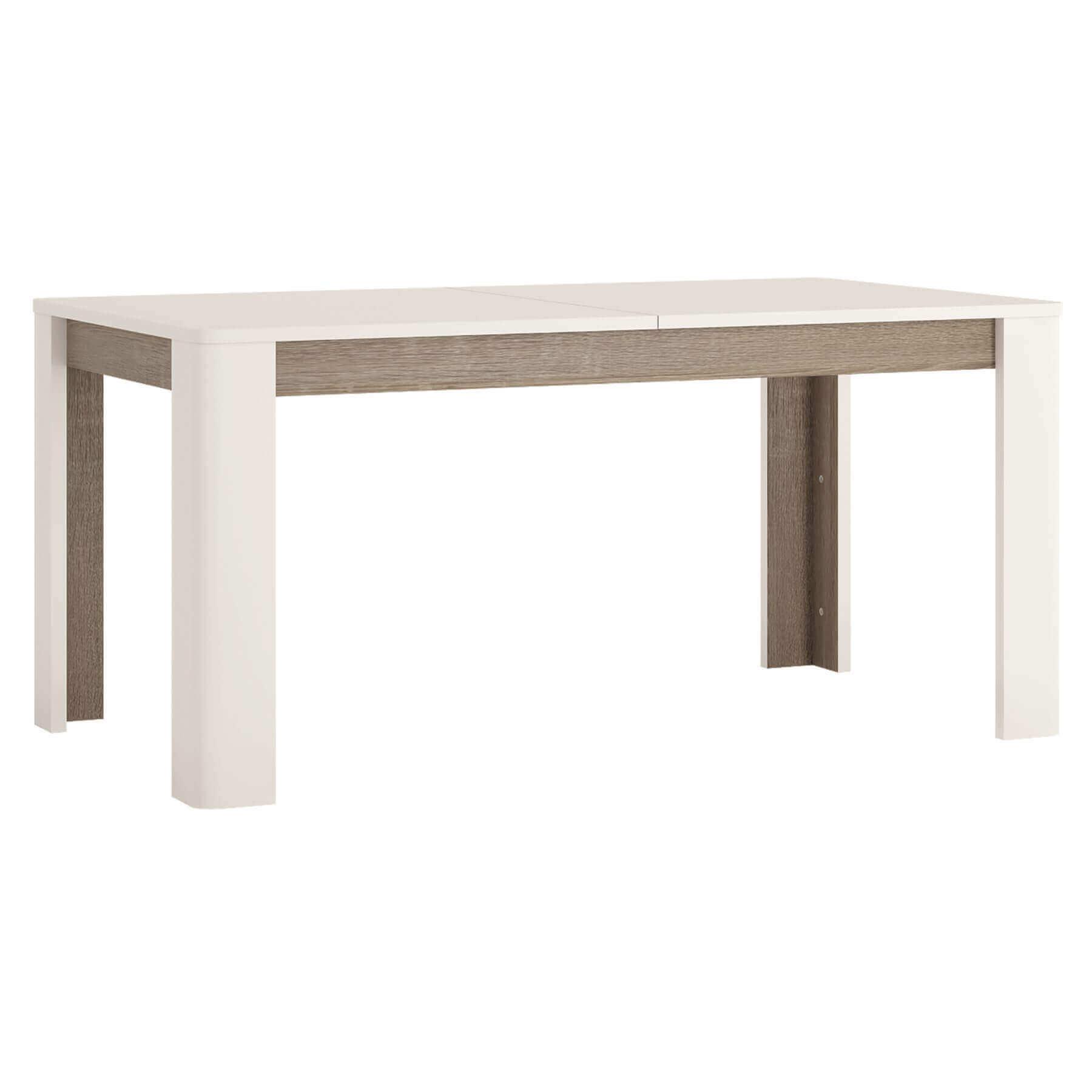 Mode Extending White Gloss Dining Table 1