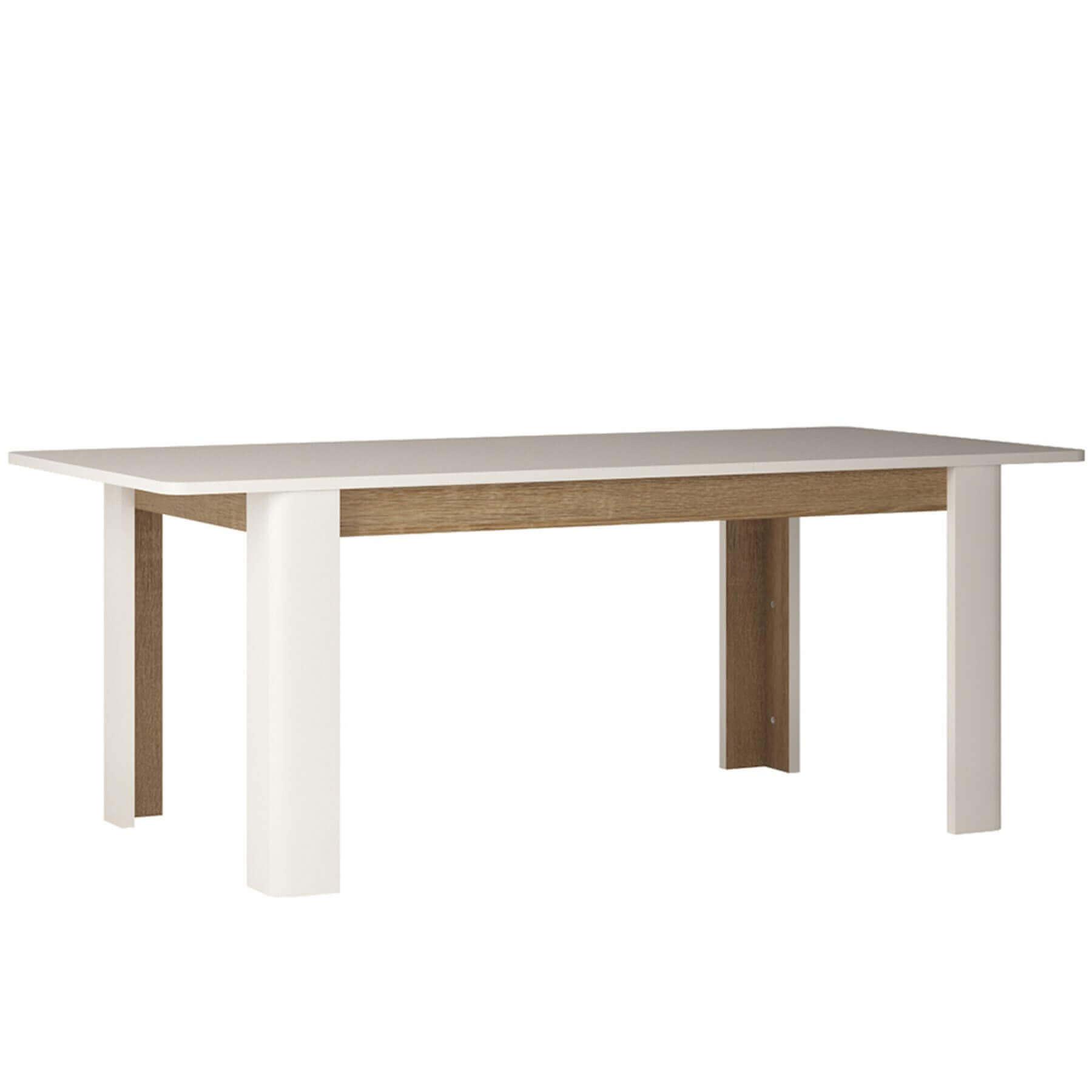 Mode Extending White Gloss Dining Table 2