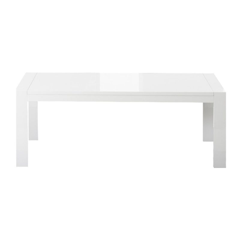 Florence White Gloss Extending Dining Table
