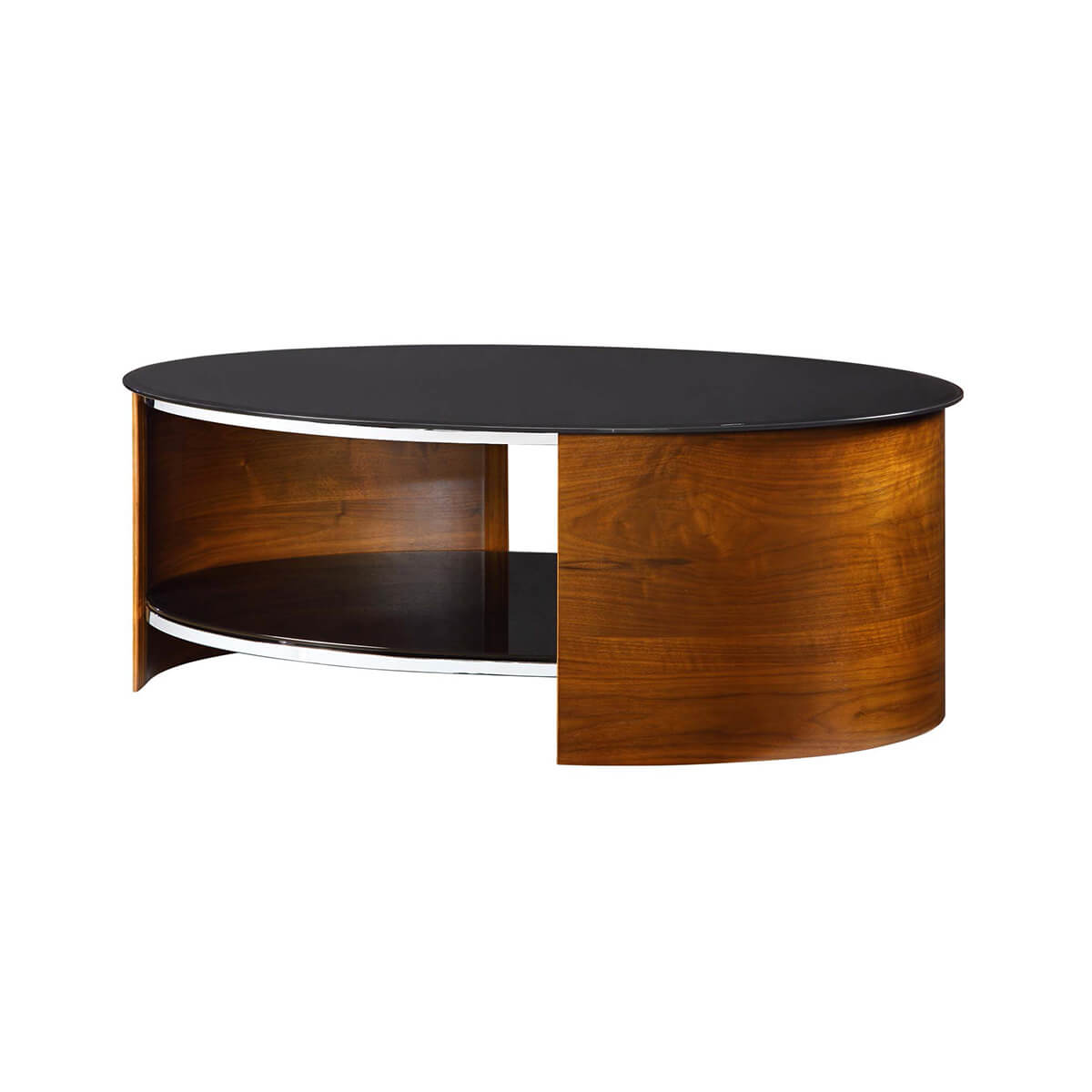 - Jual Curve Walnut & Black Glass Coffee Table Coffee Tables From FADS