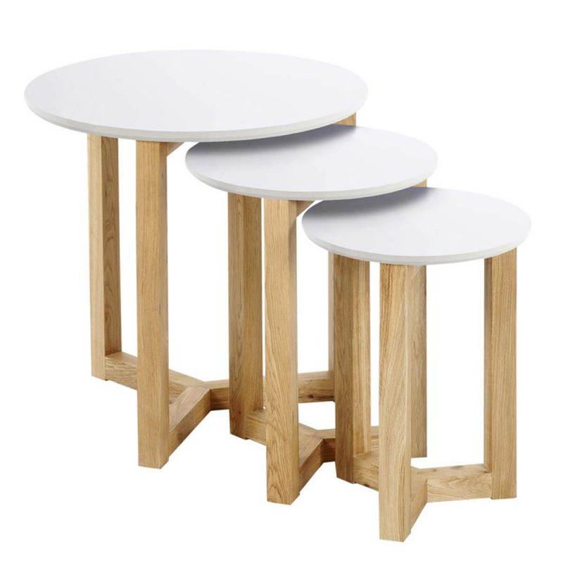 Scarlett White Oak Nest of Tables