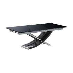 Sienna Black Glass Dining Table