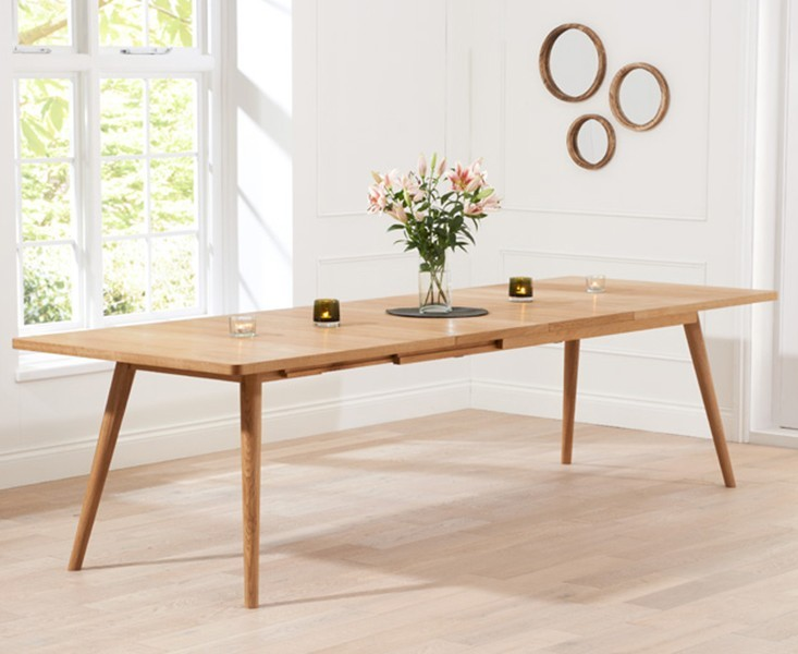 Tiko Oak Extending Dining Table 2