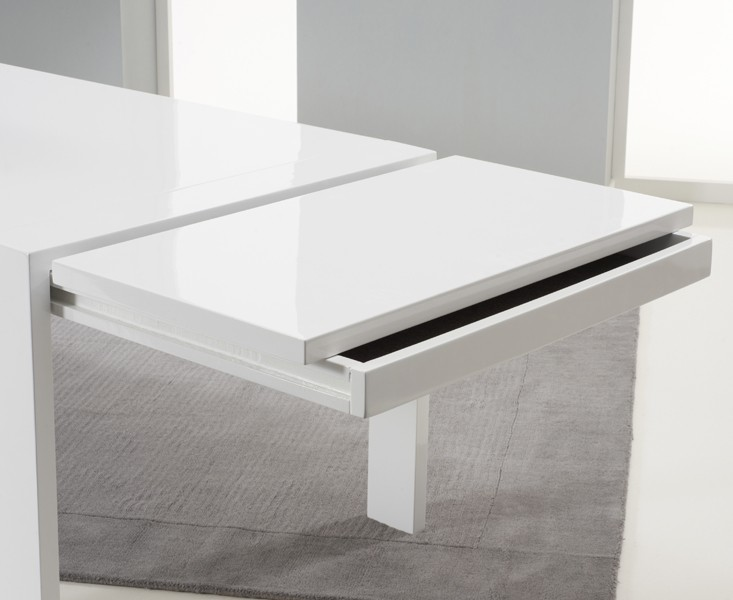 Florence Extending Dining Table White Gloss 4