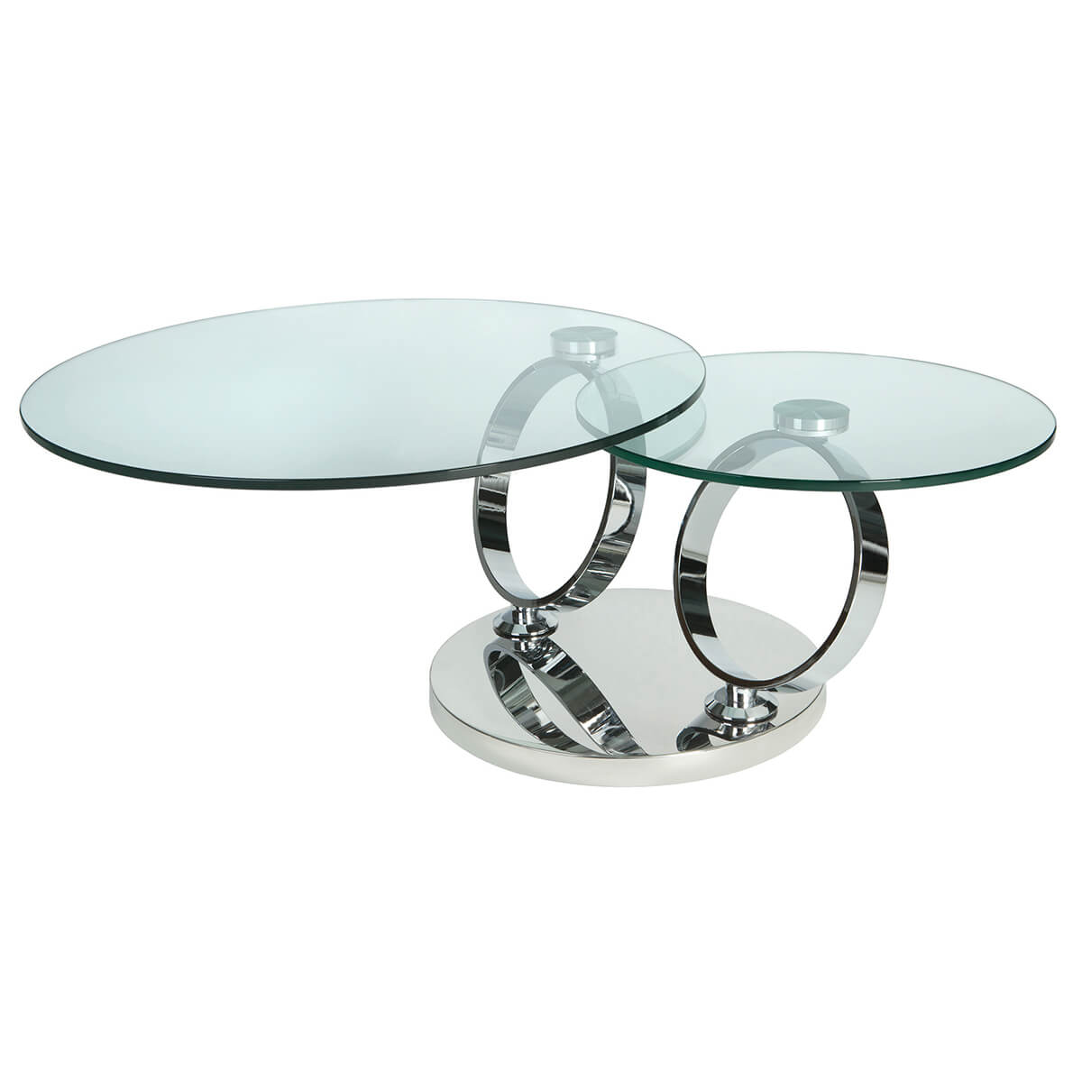 Magic Rotating Glass Coffee Table Stainless Steel Coffee Tables Fads