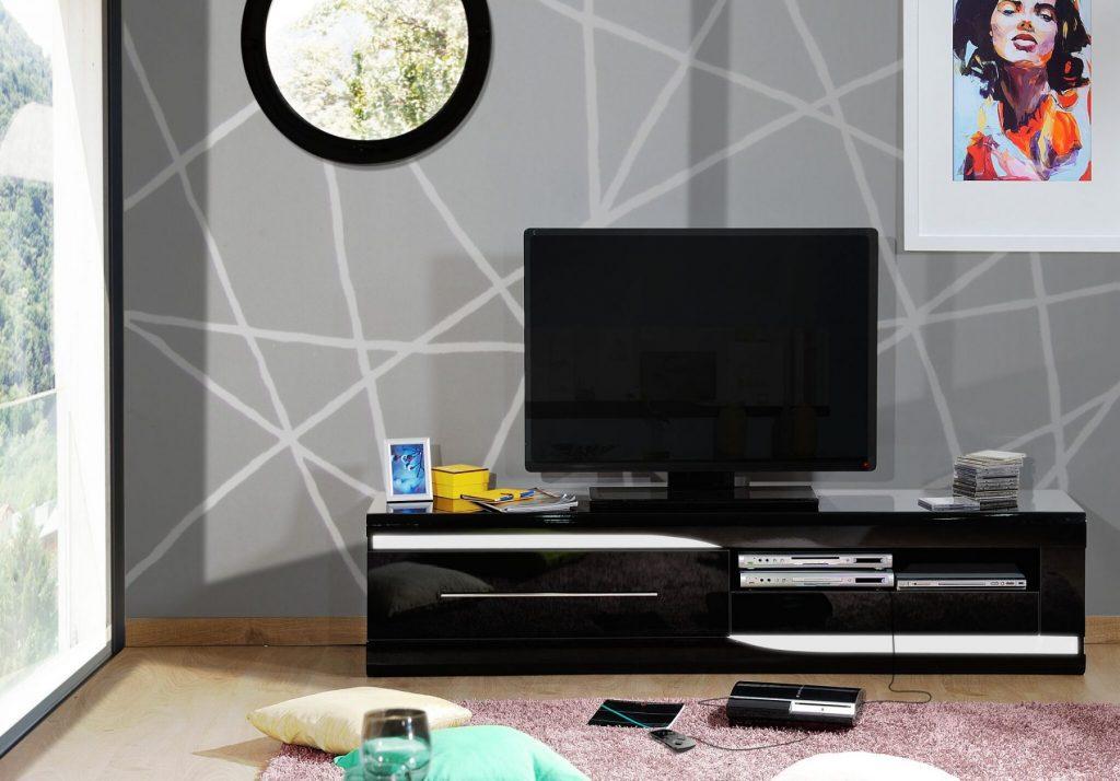Ovio Black Gloss TV Unit 4