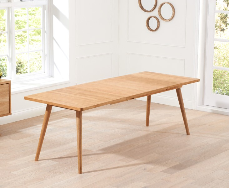 Tiko Oak Extending Dining Table 3