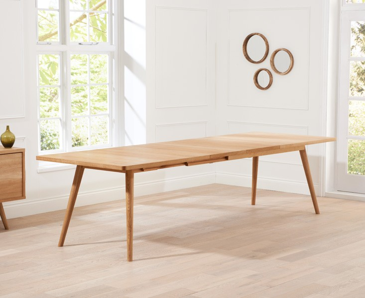 Tiko Oak Extending Dining Table 4