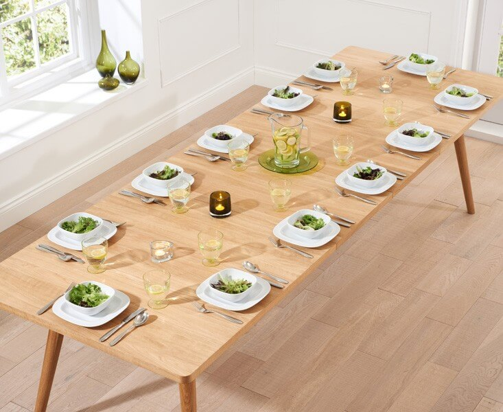 Tiko Oak Extending Dining Table 7