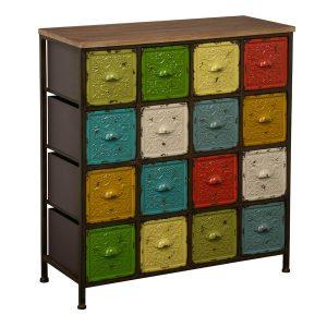 Artisan Sideboard Shabby Chic Multi Coloured