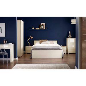 puro cream high gloss bed