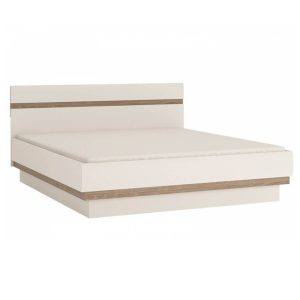 Chelsea EU Bed Frame White Gloss & Truffle Oak