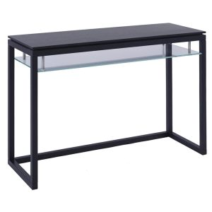 Cordoba Console Table Dark Wenge & Clear Glass