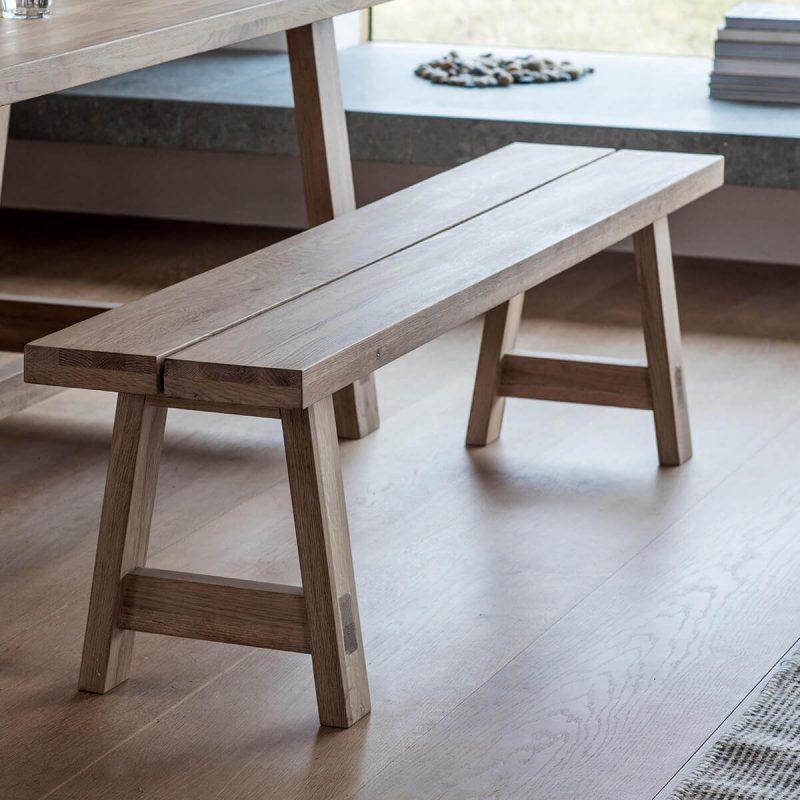 Narrative Solid Oak Dining Set Bench