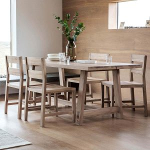 Narrative solid oak Dining Set 4 to 6 Seater Solid Oak