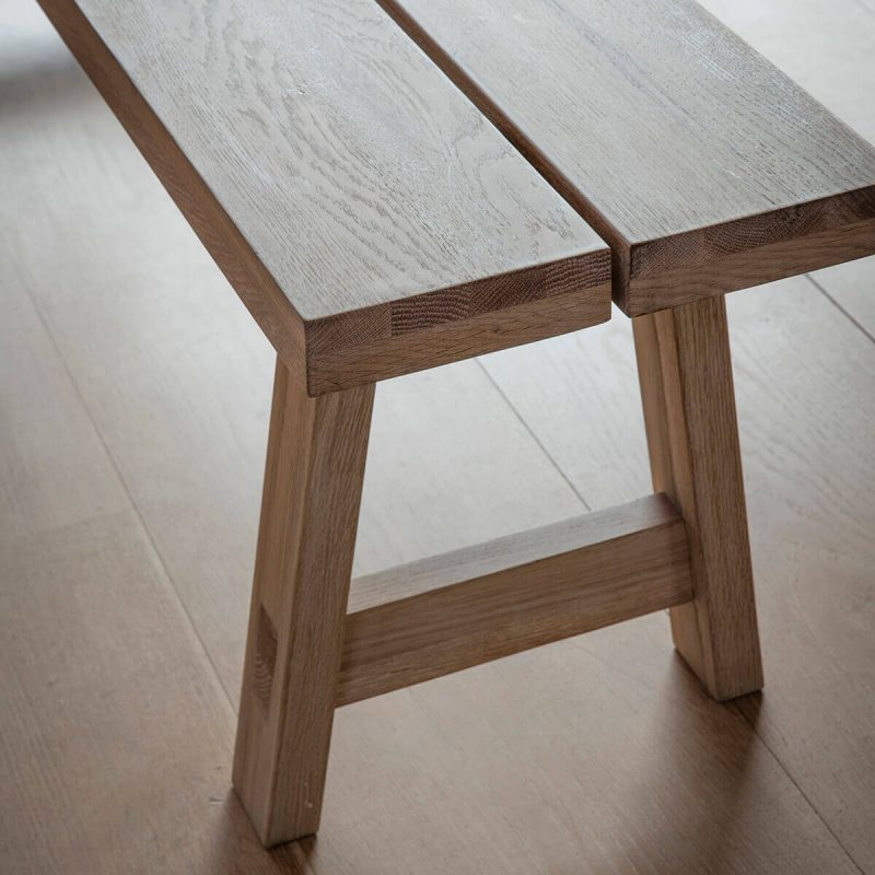 Narrative solid oak Dining Set Bench 3