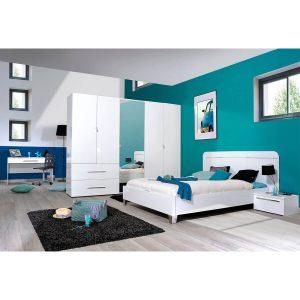 First Eu Bed Frame White High Gloss
