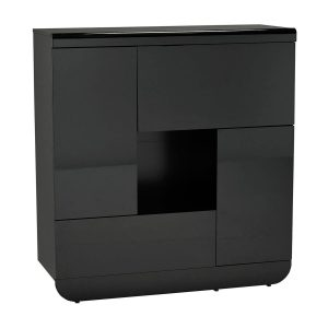 Floyd Storage Unit Black High Gloss 2 Door 2 Flap