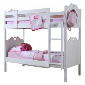 Holly Bunk Bed White With Heart Motif