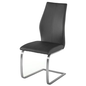 Irma Multi Coloured Dining Chair Grey Faux Leather