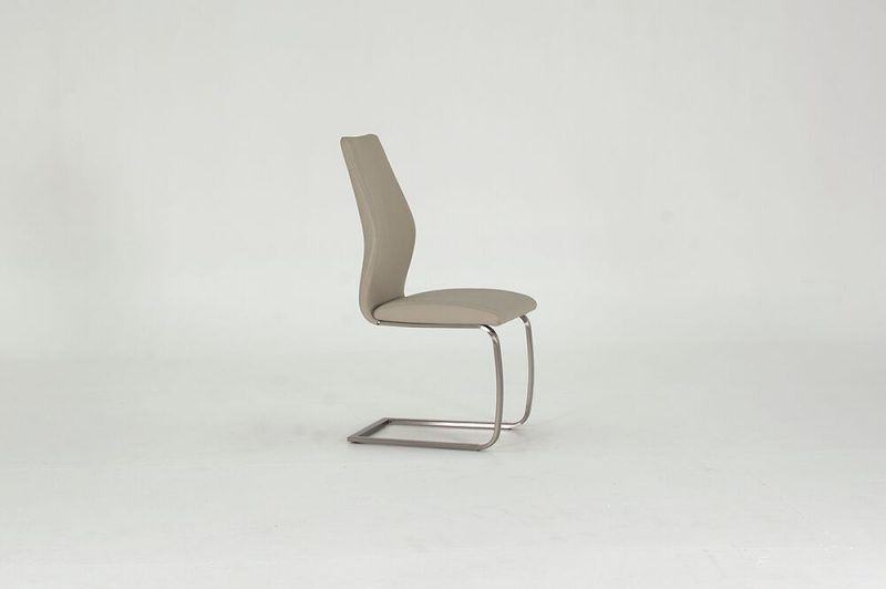 Irma Taupe Faux Leather Dining Chairs 1
