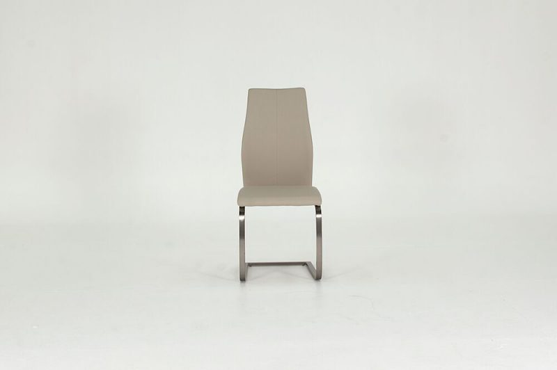 Irma Taupe Faux Leather Dining Chairs 3