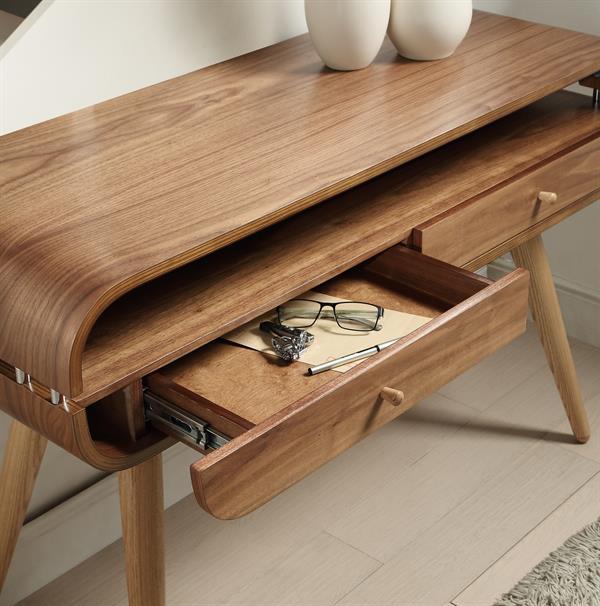 Jual Scandinavian Console Table Walnut 3