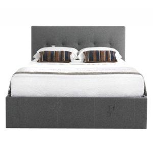 Kaydian Hexham Storage Bed With Drawer Fabric Smoke Grey