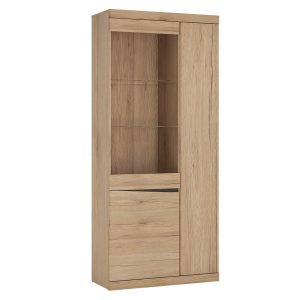 Kensington Display Cabinet Oak Tall 3 Door