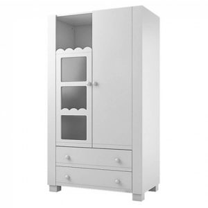 Lapsi Amelia Aran Wardrobe With Swarovski Crystals White