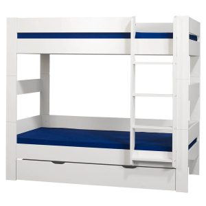 London White Bunk Bed With Under Bed Drawer White
