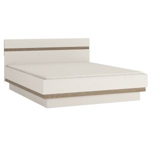 Mode EU Ottoman Bed White Gloss & Truffle Oak