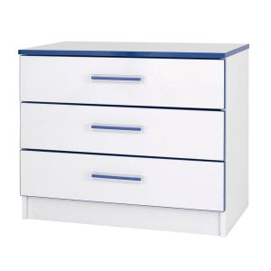 Modern Kiddi 3 Drawer Chest Blue Assembled