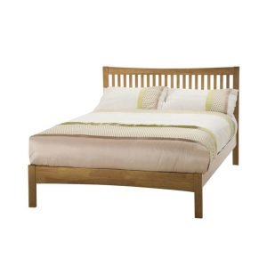 Mya Slatted Wooden Bed Frame Honey Oak 1