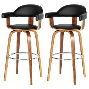 Prime Bar Stool Black Faux Leather