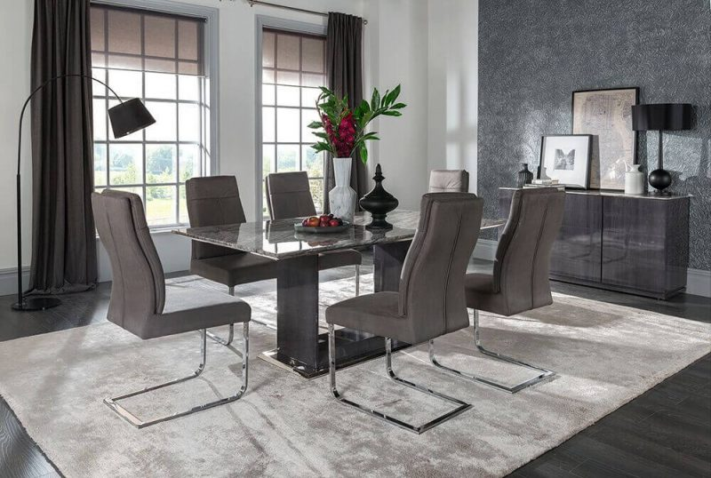 Rina Marble Dining Table Set 4 to 8 Seater 10