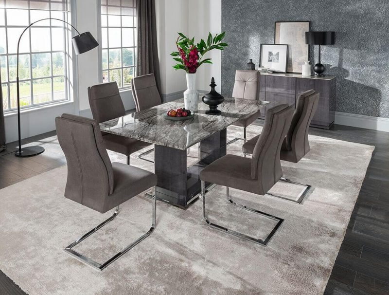 Rina Marble Dining Table Set 4 to 8 Seater 11