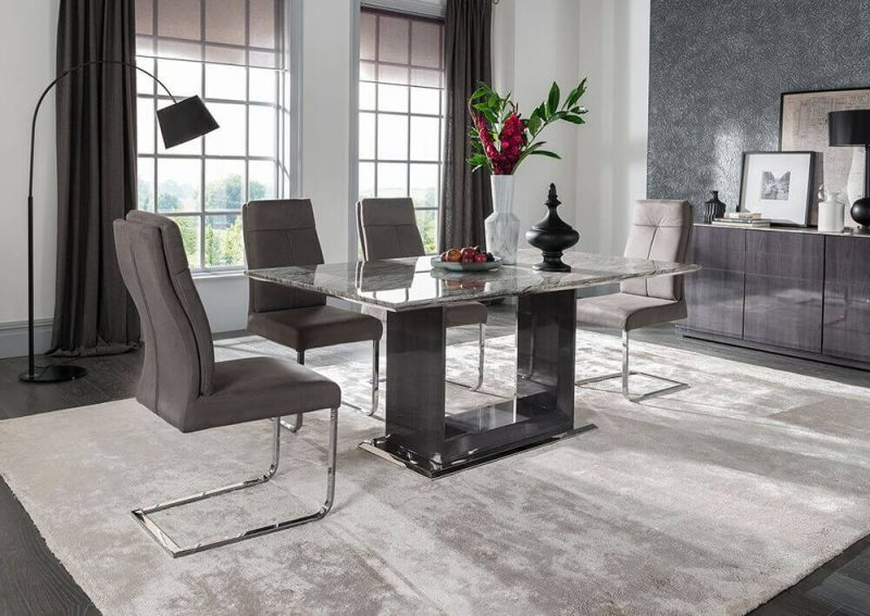 Rina Marble Dining Table Set 4 to 8 Seater 9