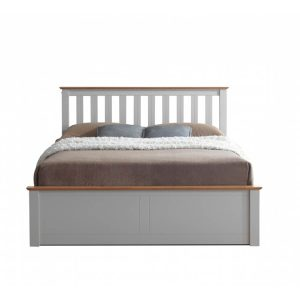 Tornio Stone Wooden Ottoman Bed