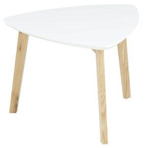 Vitis Lamp Table White Lacquered & Ash