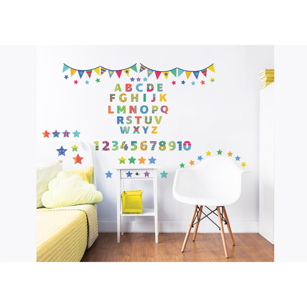 Walltastic ABC Childrens Room Decor Stickers 2