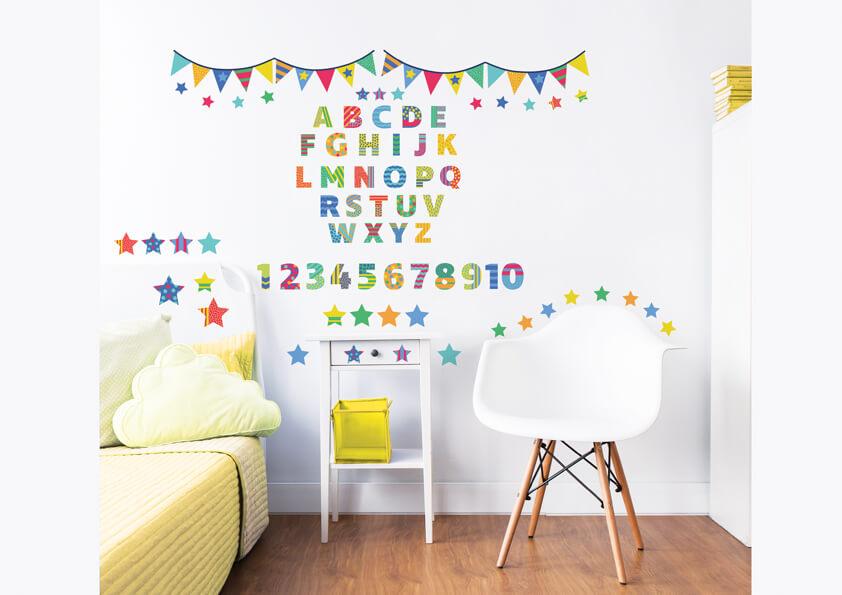 Walltastic ABC Childrens Room Decor Stickers 3