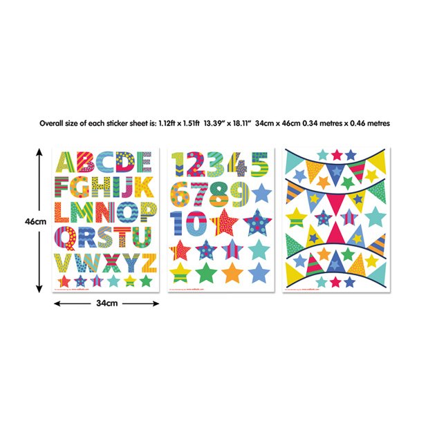 Walltastic ABC Childrens Room Decor Stickers 3