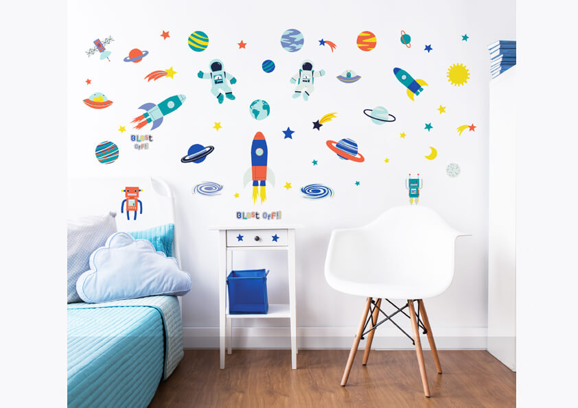 Walltastic Outer Space Childrens Room Decor Stickers 2