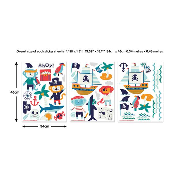Walltastic Pirate Childrens Room Decor Stickers 2