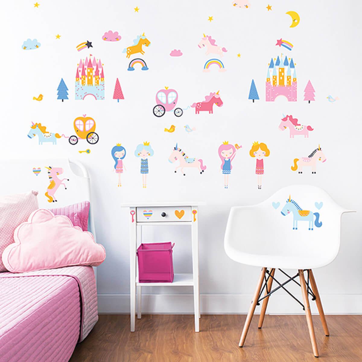 Walltastic Unicorn Sticker Set 3