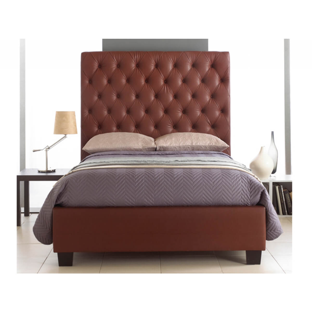 Windsor Tall Headboard Bed Frame Faux