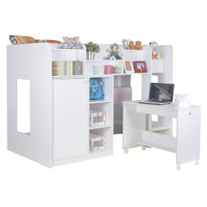 Wizard Single High Sleeper Bed Workstation 3