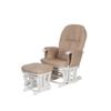 glider chair white and cream